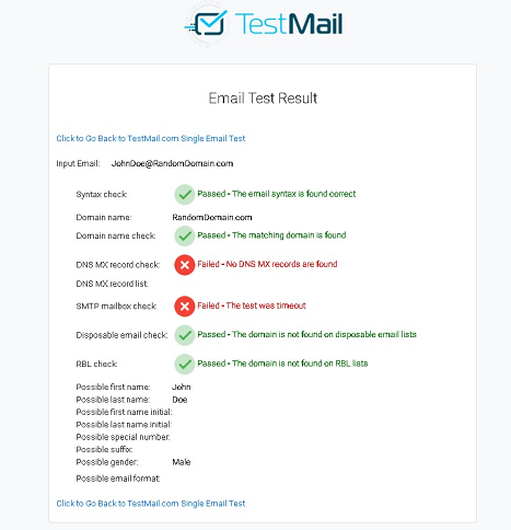Welcome to TestMail com